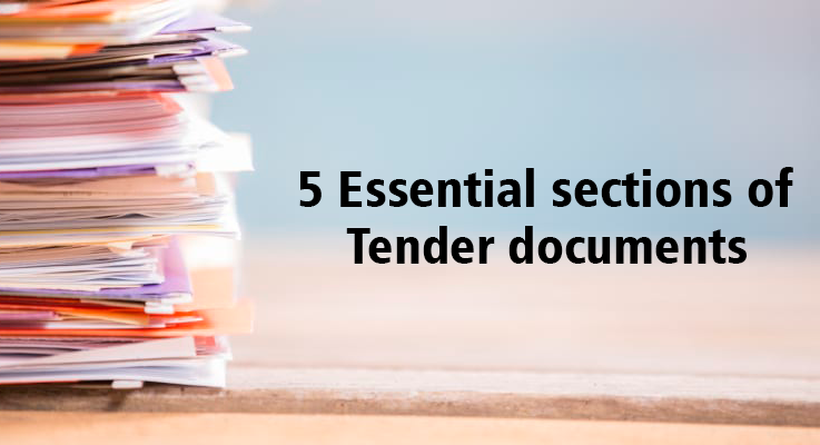 5 essential sections of a tender document